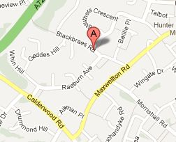 Google map Blackbraes Road
